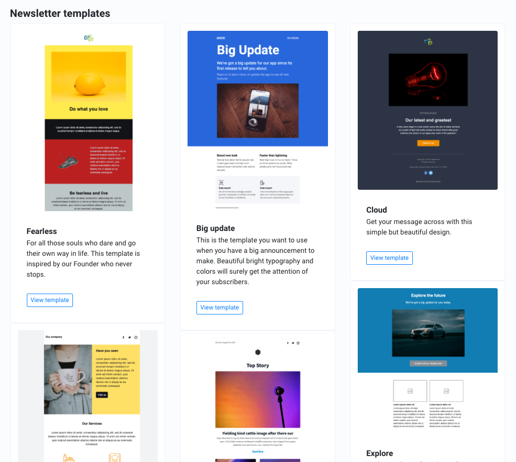 newsletter email templates